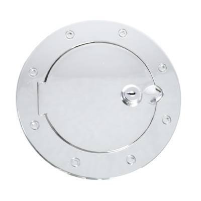 Omix - Rugged Ridge Gas Tank Filler Cover - Aluminum - Locking - 11425-06