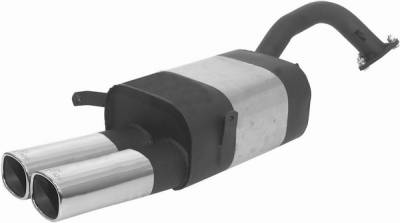 Remus - Mitsubishi Eclipse Remus Rear Silencer with Dual Exhaust Tips - Square - 557094 0502