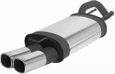 Remus - Hyundai Elantra Remus Rear Silencer with Dual Exhaust Tips - Square - 284102 0502