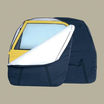 Omix - Rugged Ridge Hard Door Storage Bag - Black - Pair - 12108-01