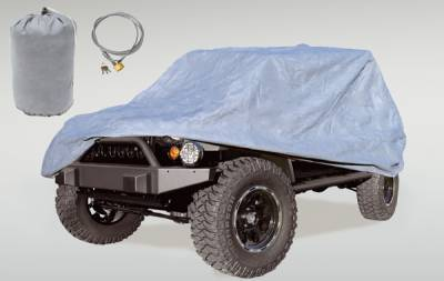 Omix - Rugged Ridge Three Layer Full Car Cover with Bag and Lock - 13321-81