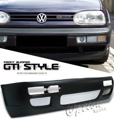 OptionRacing - Volkswagen Golf Option Racing Front Bumper - 29-45114