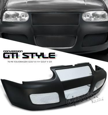 OptionRacing - Volkswagen Golf Option Racing Front Bumper - 29-45115