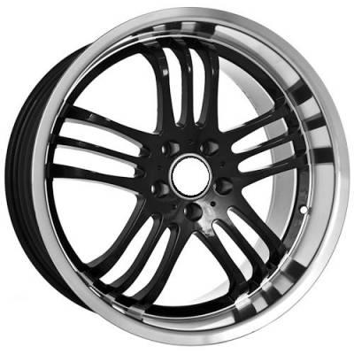 Euro Styles - 740 Black Wheels