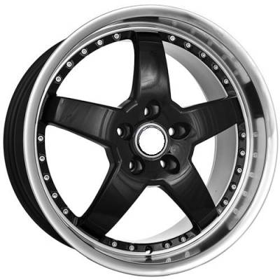 Euro Styles - 720 Black Wheels