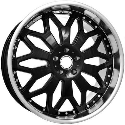 Euro Styles - 695 Black Wheels