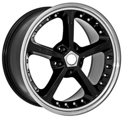 Euro Styles - 820 Black Wheels