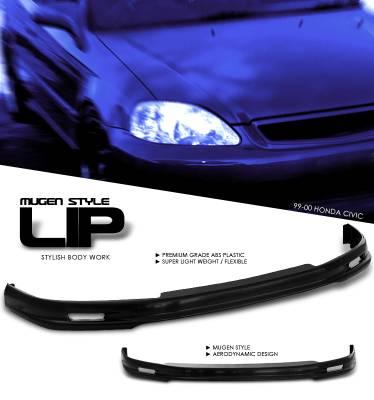 OptionRacing - Honda Civic Option Racing Bumper Lip - Mugen Style - 38-20118