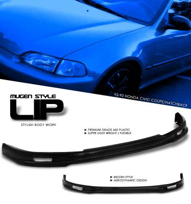 OptionRacing - Honda Civic Option Racing Bumper Lip - Mugen Style - 38-20119