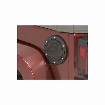 Omix - Omix Bestop Fuel Door - Black Aluminum - 43103-01