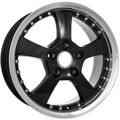 Euro Styles - 730 Black Wheels