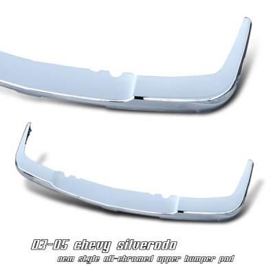OptionRacing - Chevrolet Silverado Option Racing Upper Bumper Pad - 65-15125