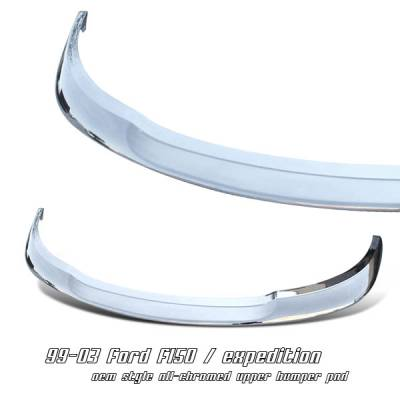 OptionRacing - Ford Expedition Option Racing Upper Bumper Pad - 65-18177