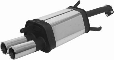 Remus - Mitsubishi Lancer Remus Rear Silencer with Dual Exhaust Tips - Round - 555096 0504