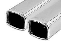 Remus - Toyota Paseo Remus Rear Silencer with Dual Exhaust Tips - Square - 903096 0508