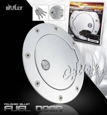 OptionRacing - Chevrolet Silverado Option Racing Fuel Door Cover - Chrome with Lock - GD-102CK