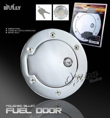OptionRacing - Dodge Ram Option Racing Fuel Door Cover - Chrome with Lock - GD-103CK