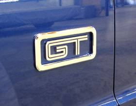 PirateMFG - Ford Mustang Pirate Chrome Billet GT Logo Surrounds - Pair - MU0028SC
