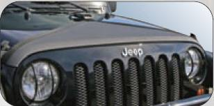 Rampage - Jeep Wrangler Rampage Hood Bra - Triangle - Black Denim - 1101