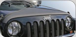 Rampage - Jeep Wrangler Rampage Hood Bra - Triangle - Black Denim - 1102