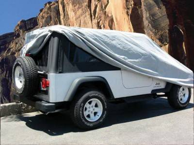 Rampage - Jeep Wrangler Rampage Car Cover - 4 Layer - Grey with Lock - Cable & Storage Bag - 1203