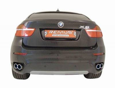 Remus - BMW X6 Remus Rear Silencer Left & Right System - Quad Outlets - 089208 1556