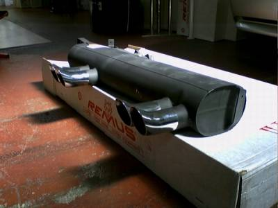 Remus - BMW 3 Series Remus Rear Silencer with Left & Right each Dual Exhaust Tips - Round - 088001 1562