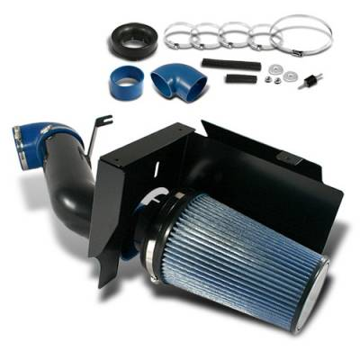 OptionRacing - Cadillac Escalade Option Racing Air Intake System - Black with Filter - 37-14102