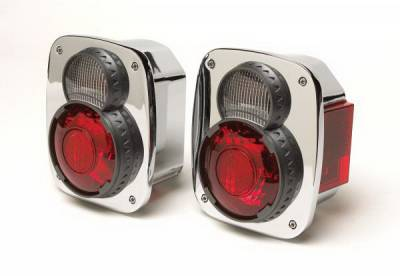 Rampage - Jeep CJ Rampage Sport Replacement Taillights - Chrome - 5308