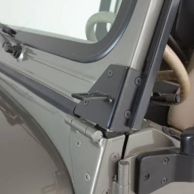 Rampage - Jeep CJ7 Rampage Windshield Hinge Light Brackets - Stainless - 7489