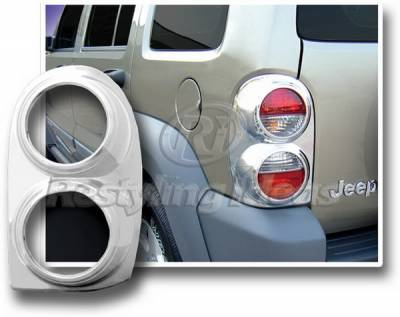 Restyling Ideas - Jeep Liberty Restyling Ideas Taillight Bezel - Chrome - 26835