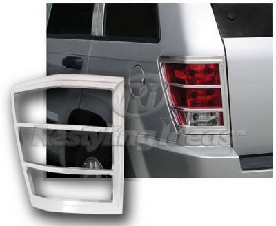 Restyling Ideas - Jeep Grand Cherokee Restyling Ideas Taillight Bezel - Chrome - 26842