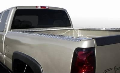 ICI - Chevrolet Silverado ICI Treadbrite Bed Rail Caps with Holes - SPBR46TB