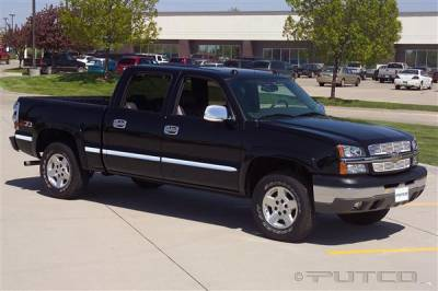 Putco - Chevrolet Silverado Putco Body Side Molding - Billet Aluminum - 96608