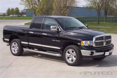 Putco - Dodge Ram Putco Body Side Molding - Billet Aluminum - 96633