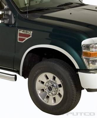 Putco - Ford F250 Superduty Putco Stainless Steel Fender Trim - 97179