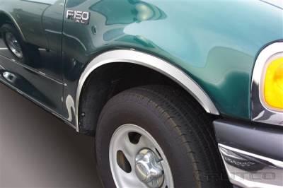 Putco - Ford F150 Putco Stainless Steel Fender Trim - Full - 97213
