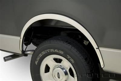 Putco - Ford F150 Putco Stainless Steel Fender Trim - Full - 97219