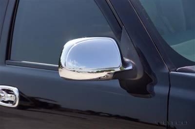 Putco - Chevrolet Silverado Putco Deluxe Mirror Overlays - 400006