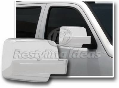 Restyling Ideas - Jeep Liberty Restyling Ideas Mirror Cover - Chrome ABS - 67324