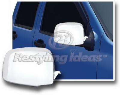 Restyling Ideas - Chevrolet Silverado Restyling Ideas Mirror Cover - Chrome ABS - 67332