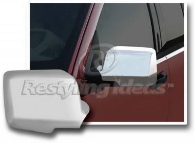 Restyling Ideas - Ford Explorer Restyling Ideas Mirror Cover - Chrome ABS - 67337