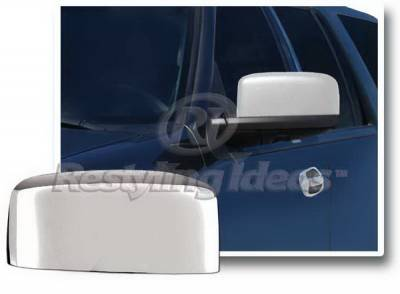 Restyling Ideas - Lincoln Navigator Restyling Ideas Mirror Cover - Top Half - Chrome ABS - 67354