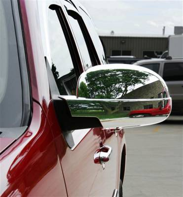 Putco - Chevrolet Silverado Putco Upper Mirror Overlays - 400130