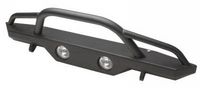 Rampage - Jeep Wrangler Rampage Recovery Bumper - Front with Stinger - 76510