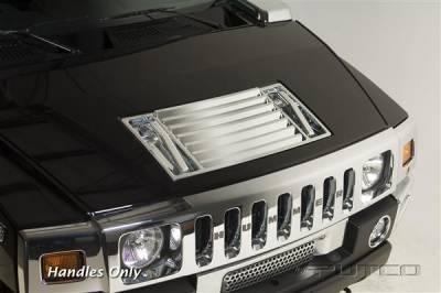 Putco - Hummer H2 Putco Chrome Trim Hood Deck Vent - Handles Only - 401047