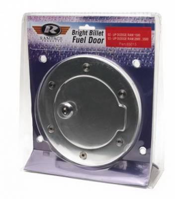 Rampage - GMC Yukon Rampage Billet Style Gas Cover - Polished Billet - Locking Door Design with Keys - 85011