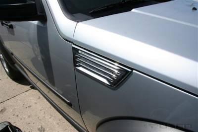 Putco - Dodge Nitro Putco Chrome Side Vents - 401662