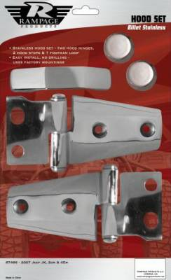 Rampage - Jeep Wrangler Rampage Door Hinges - Billet - 2 Pair - 87541