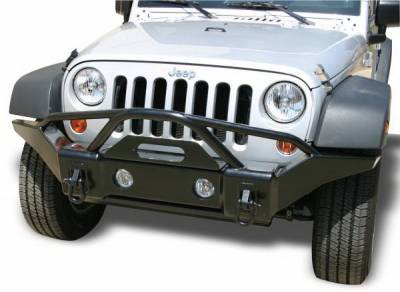 Rampage - Jeep Wrangler Rampage Recovery Bumper - Front with Stinger - Textured finish - 88510